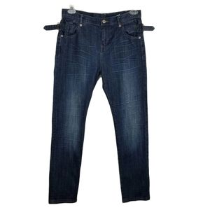 Wrap London Jeans With Wings Patch Size 8